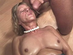 Mom fucks and gets facial