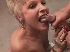 Mature fucks and gets cum
