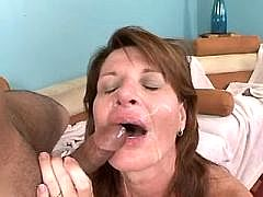 Butty mature drink sperm after sex