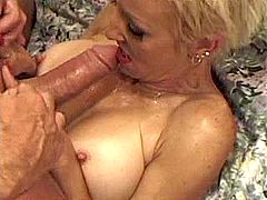 Milf fucks n gets cumshot in mouth
