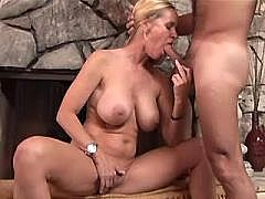 Guy hard fucks his blonde bitch